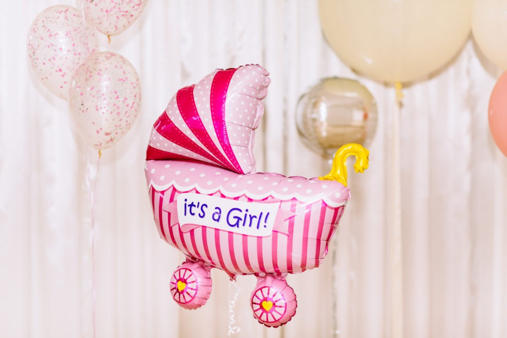 """"""" It's a Girl !"""". Balloons party baby."""